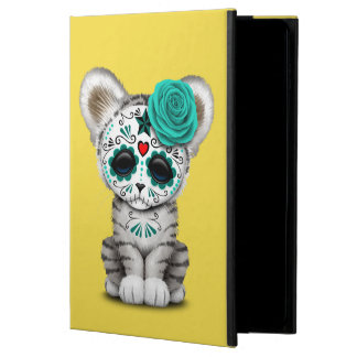 Blue Day of the Dead Sugar Skull White Tiger Cub Powis iPad Air 2 Case