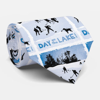 Blue Day on the Lake Pond Hockey Tie