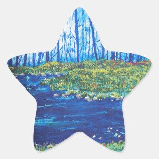 Blue Day Stream Star Sticker
