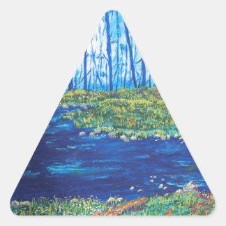 Blue Day Stream Triangle Sticker