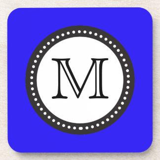 Blue Daze Monogram Coaster