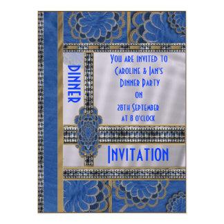 Blue Dazzler Dinner Party Invitation