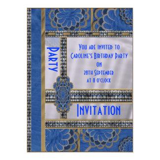 Blue Dazzler Party Invitation