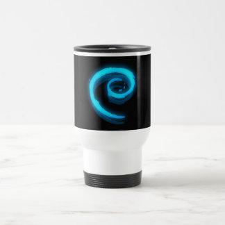 Blue Debian Swirl Travel Mug