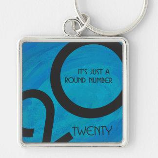 Blue Decade 20th Birthday Keychain