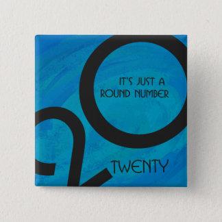 Blue Decade Birthdday Button