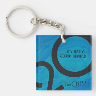 Blue Decade Birthdday Keychain