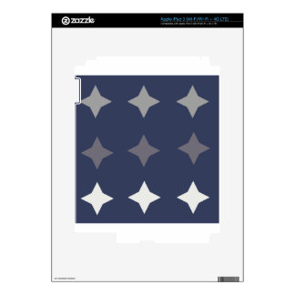 Blue Decal For iPad 3