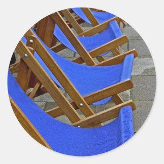 Blue Deck Chair  Stickers