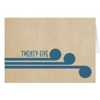 Blue Deco Chic Table Number Card