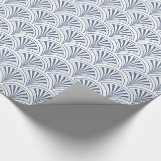 Blue Deco Fans Pattern Wrapping Paper