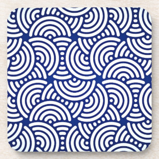 Blue Deco Japanese Curve Coaster