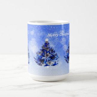 Blue decorated Chistmas tree Coffee Mugs
