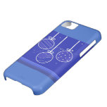 Blue Decorations Christmas Design Case For iPhone 5C
