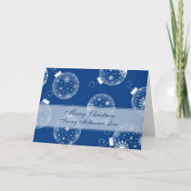 Blue Decorations Mother Merry Christmas Card