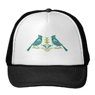 Blue Decorative Birds Trucker Hat
