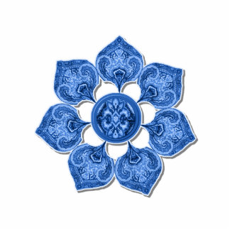 Blue Decorative Fabric Cutout Flower