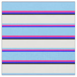 [ Thumbnail: Blue, Deep Pink, Light Sky Blue, Mint Cream, Black Fabric ]