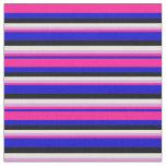 [ Thumbnail: Blue, Deep Pink, Plum, Light Cyan, and Black Fabric ]