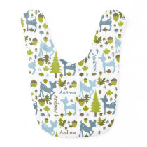 Blue Deer Personalized Baby Bib