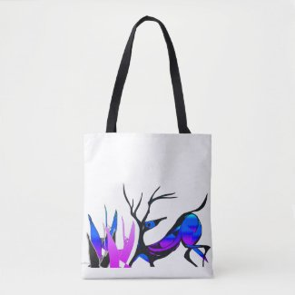 Blue Deer Tote Bag