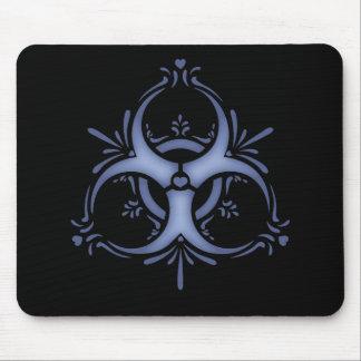 Blue Delft Biohazard Mouse Pad