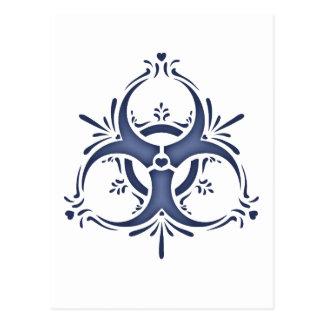 Blue Delft Biohazard Postcard