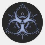 Blue Delft Biohazard Stickers