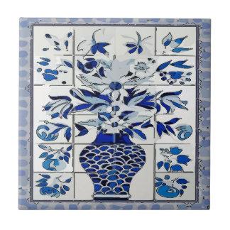 Blue Delft Flower Vase  Tile Mural
