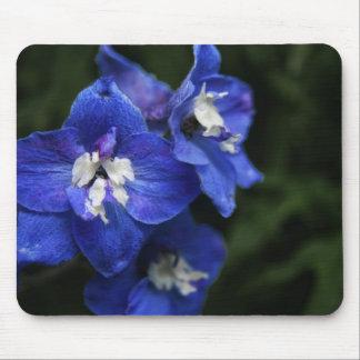 Blue Delphinium flower mouse mat Mouse Pad