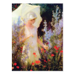 Blue Delphiniums by Charles Courtney Curran Postcard