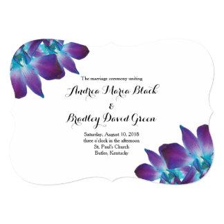 Blue Dendrobium Orchid Wedding Program