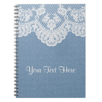 Blue Denim and Lace Notebook