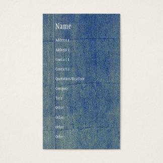 Blue Denim Background Business Card