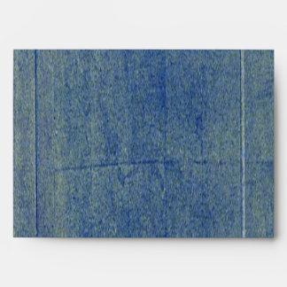 Blue Denim Background Envelope