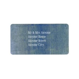 Blue Denim Background Label