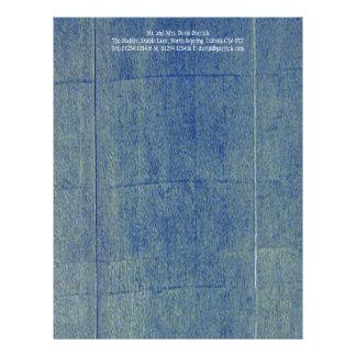 Blue Denim Background Letterhead
