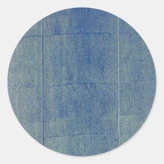 Blue Denim Background Round Sticker