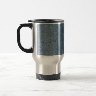 Blue Denim Background Travel Mug