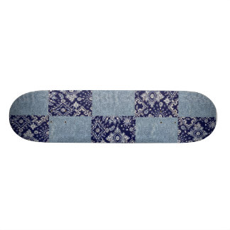 Blue Denim Bandana Skateboard