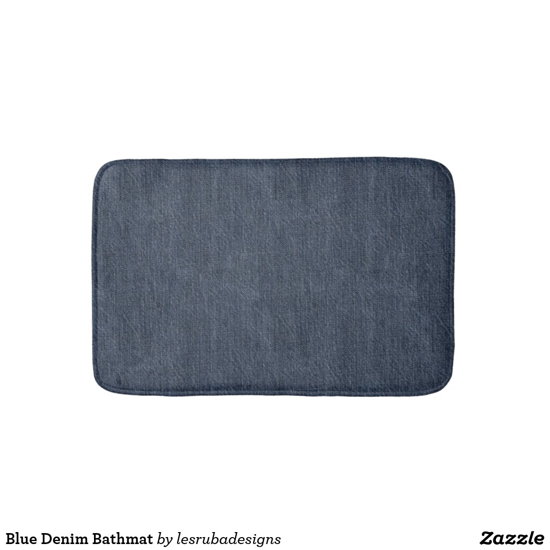 Blue Denim Bathmat