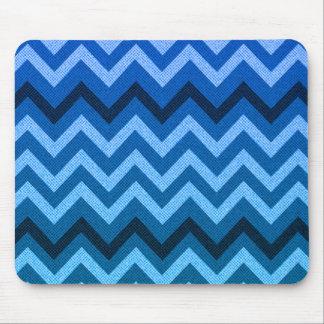 Blue Denim Chevron Mouse Pad