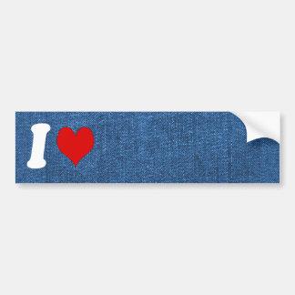 Blue Denim Fabric Textured Background Bumper Sticker