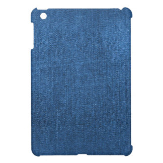 Blue Denim Fabric Textured Background Cover For The iPad Mini