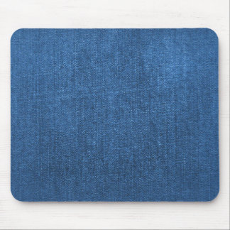 Blue Denim Fabric Textured Background Mouse Pad