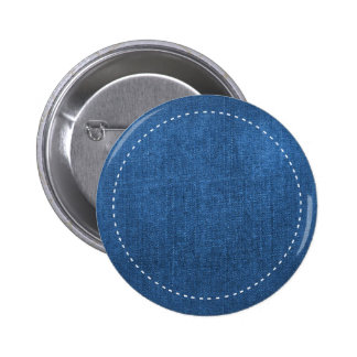 Blue Denim Fabric White Stitches Background Buttons
