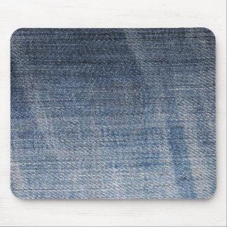 blue denim jeans fabric texture mouse pad