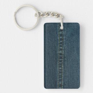 Blue Denim Keychain