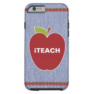 Blue Denim Look Teacher's iPhone 6 Case