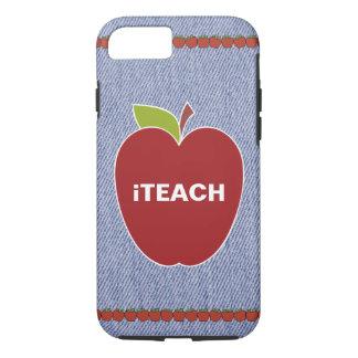 Blue Denim Look Teacher's iPhone 7 Case